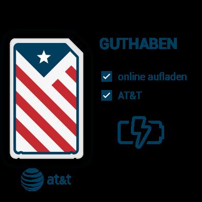 AT&T Guthaben für die USA aufladen