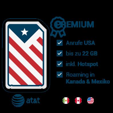 AT&T Prepaid SIM-Karte USA