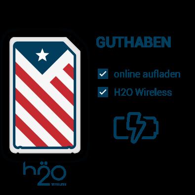 H2O Wireless Guthaben für die USA aufladen