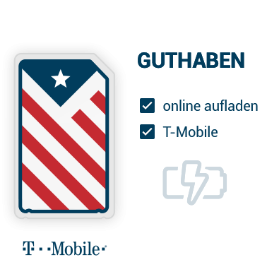T-Mobile Guthaben für die USA aufladen